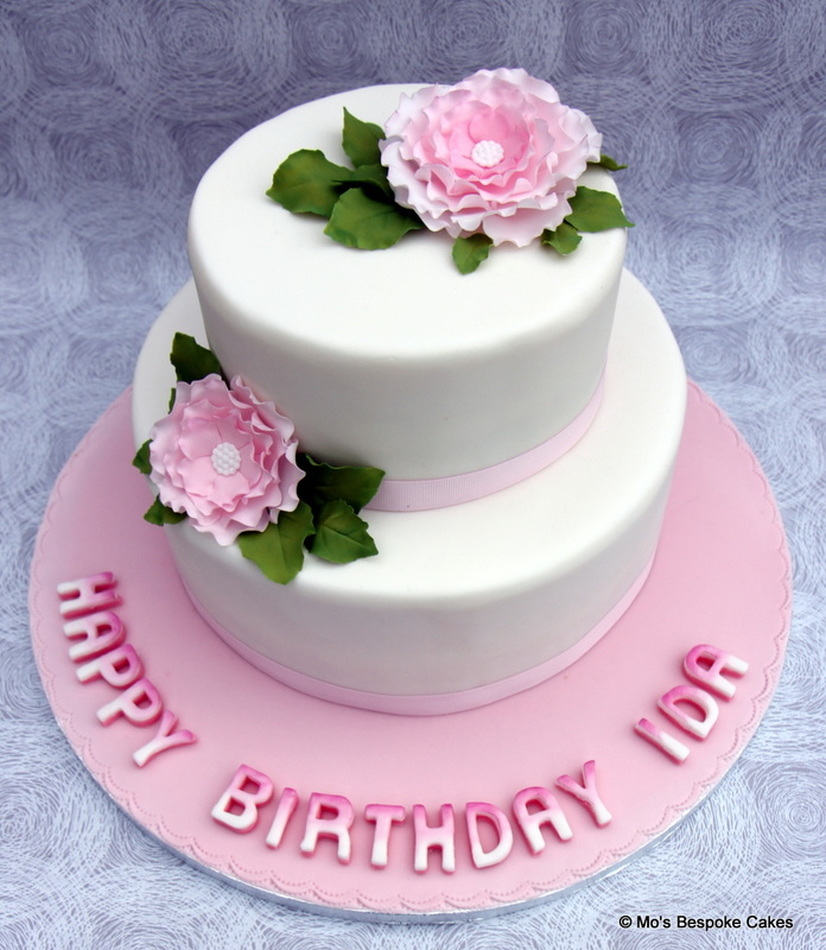 Pink 40th Birthday Cake Personalised Cakes for Birthdays Weddings