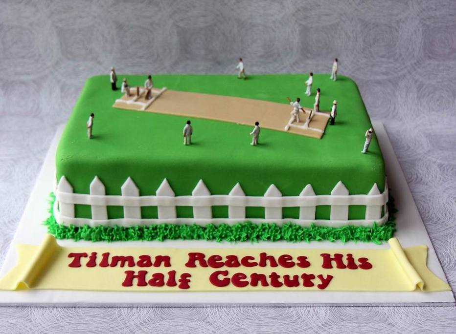 Cricket 50th Birthday Cake Personalised Cakes For