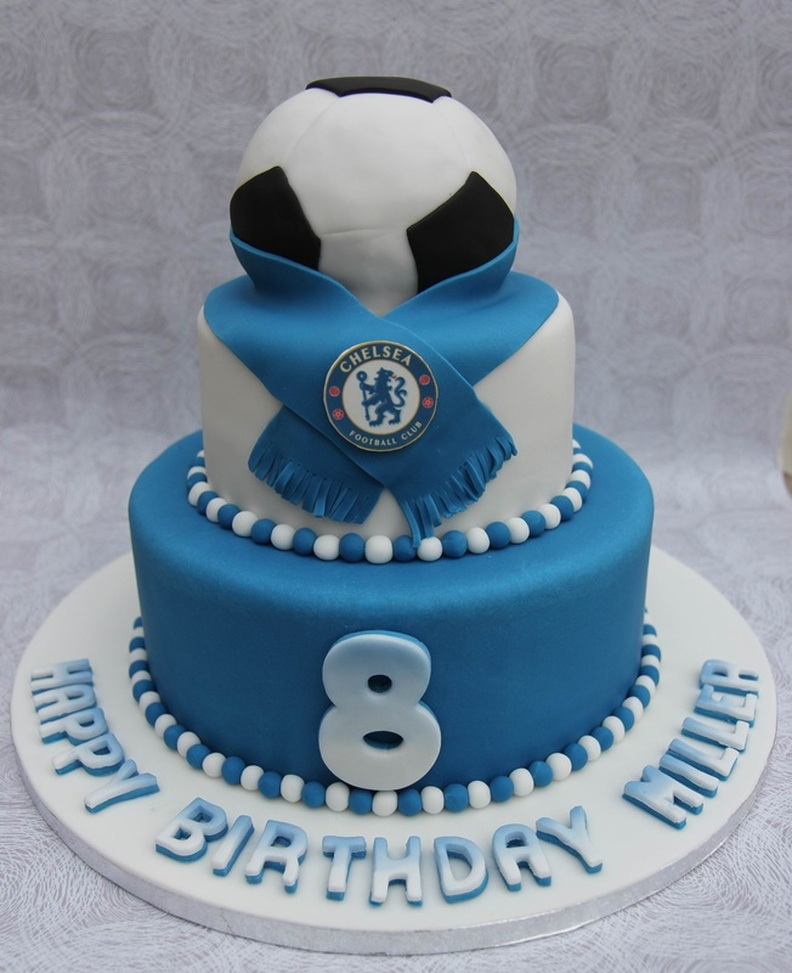 Chelsea Football Birthday Cake Personalised Cakes For Birthdays