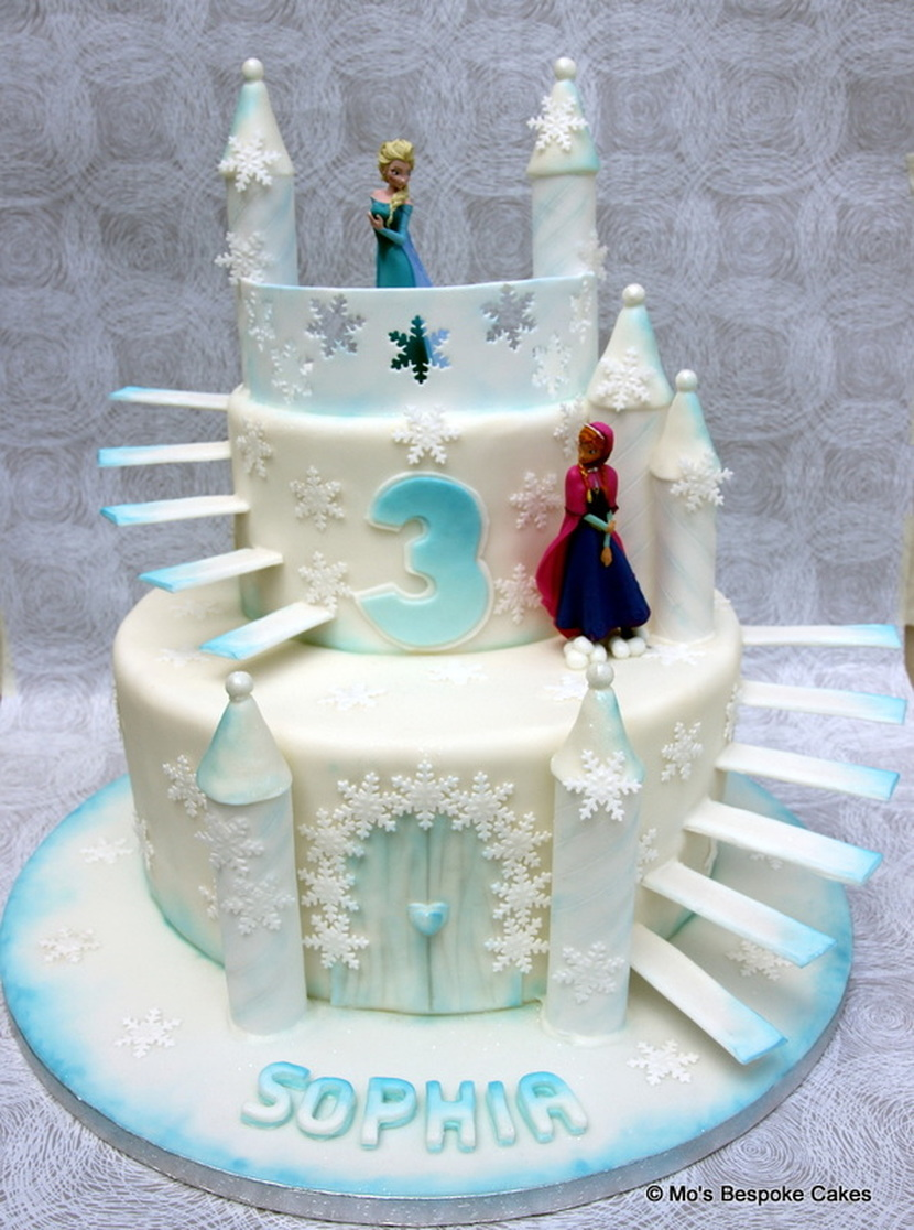 Frozen Ice Palace Birthday Cake Personalised Cakes for Birthdays