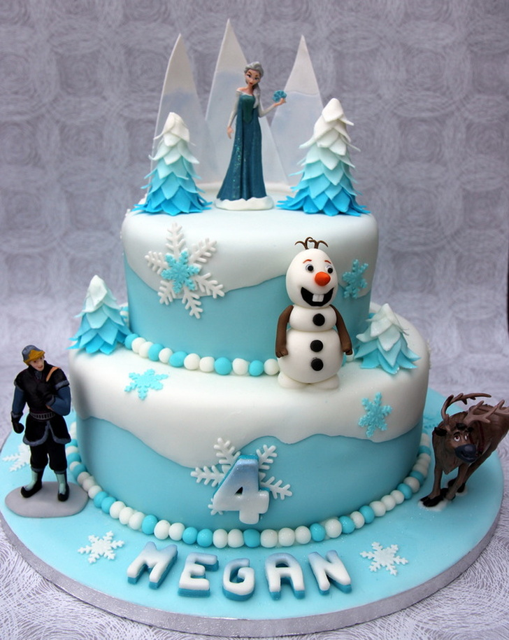 Elsa and Olaf Frozen Birthday Cake Personalised Cakes for
