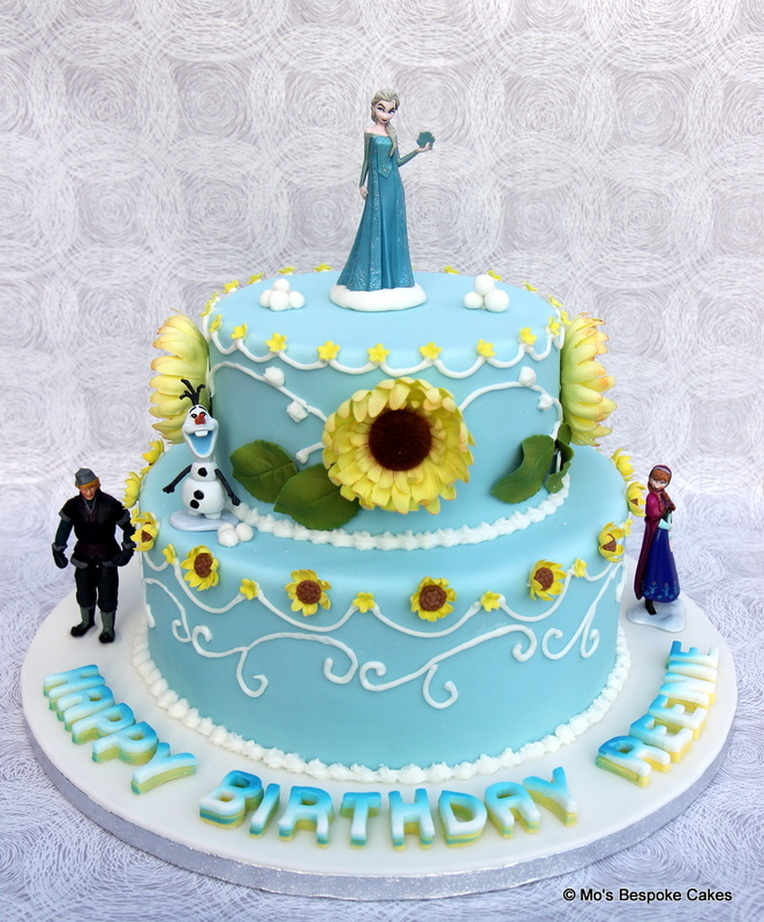 Disney Frozen 2 tier Birthday Cake Personalised Cakes for